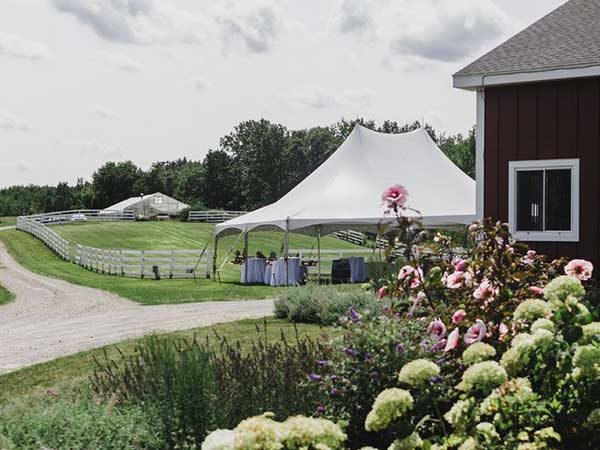 High Peak Tents are available from Columbia Tent Rentals for your wedding