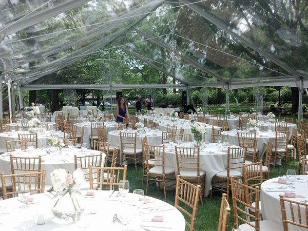 Clear Top Tents are available from Columbia Tent Rental for your family reunion