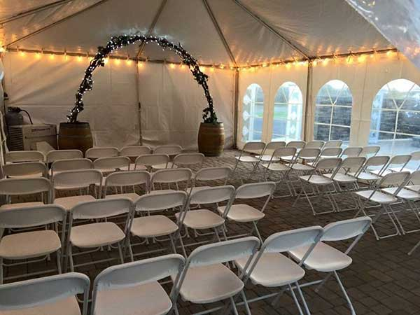 Frame Tents are available from Columbia Tent Rental for your fundraiser