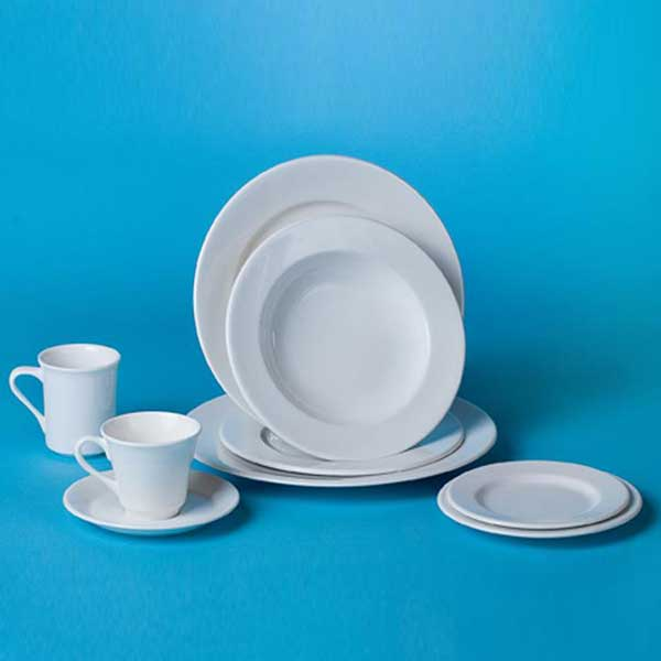 Dinnerware rental from Columbia Tent Rentals feature a wide assortment of table settings