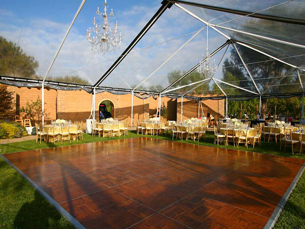 Clear Top Tents are available from Columbia Tent Rental for your wedding