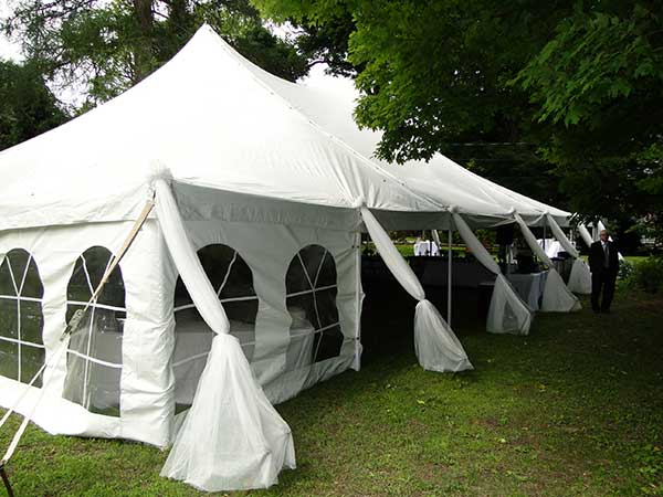Pole Tents are available from Columbia Tent Rental for your family reunion