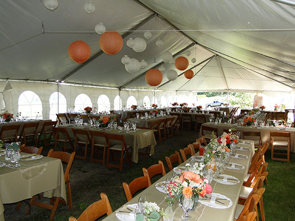 Frame Tents are available from Columbia Tent Rental for your special event