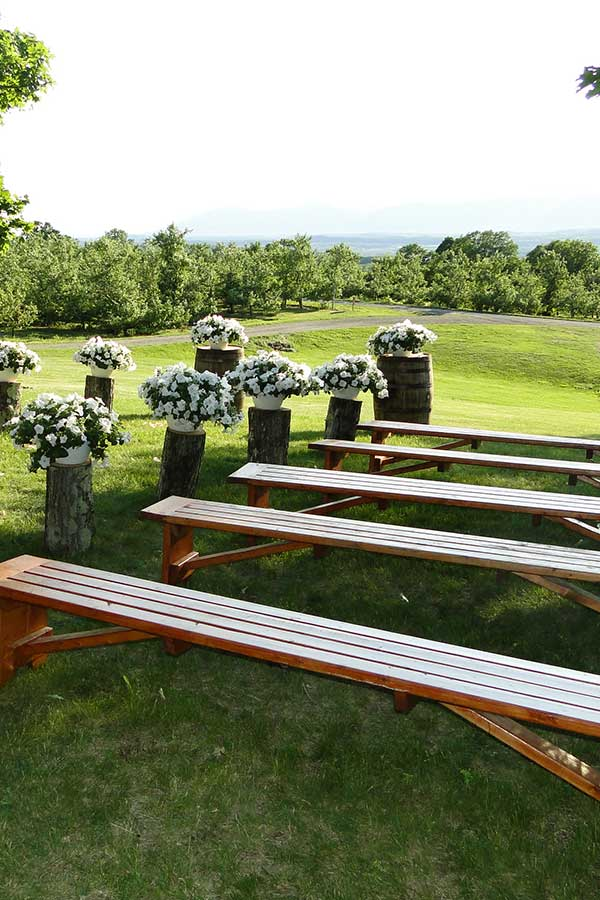 Tables & Chairs rental: Bench rental from Columbia Tent Rentals
