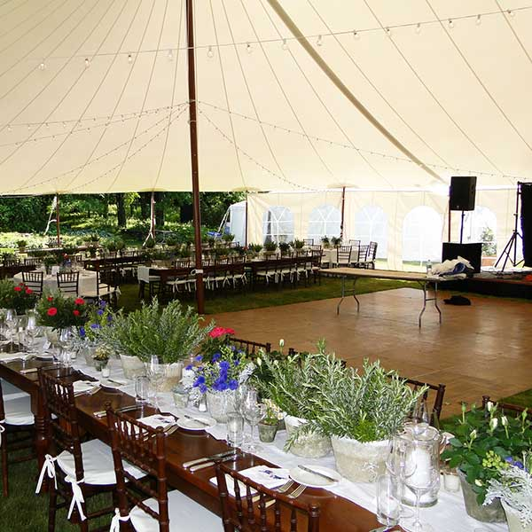 Large Dance Floor Rental from Columbia Tent Rentals for weddings