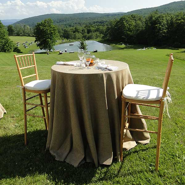 Small round tables for your wedding or special event. Table & Chair rentals from Columbia Tent Rentals