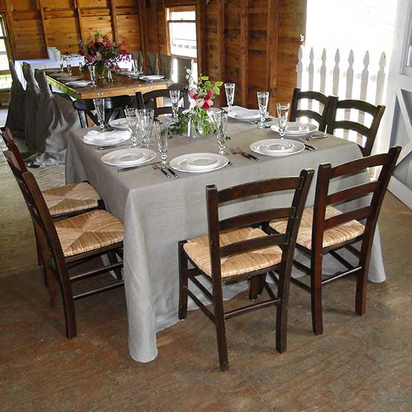 Square tables for your wedding or special event. Table & Chair rentals from Columbia Tent Rentals