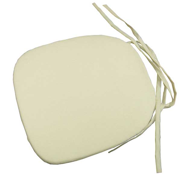 Tables & Chairs rental: Fruitwood Chair Cushion White or Ivory from Columbia Tent Rentals