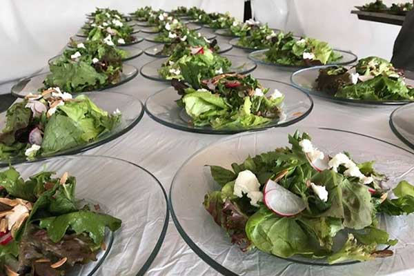 Columbia Tent rents catering equipment for wedding or special events