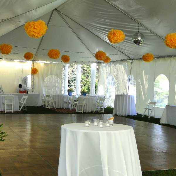 Dance Floor Rental from Columbia Tent Rentals