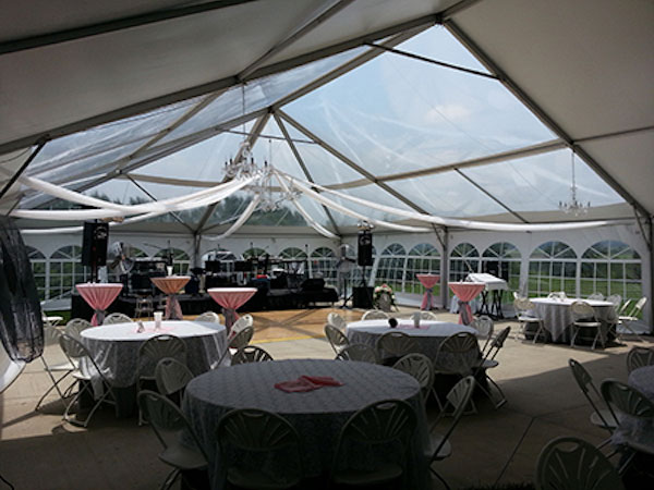 Clear Top Tents are available from Columbia Tent Rentals for your special event