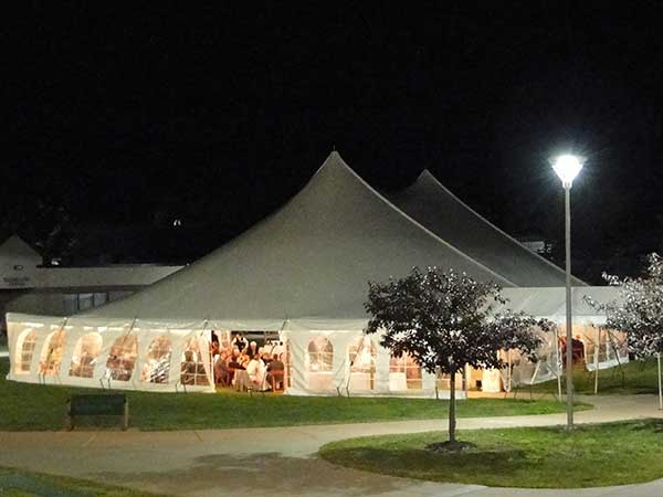 Pole Tents are available from Columbia Tent Rental
