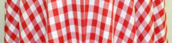 Table Linens Rental from Columbia Tent Rentals feature red check tablecloth
