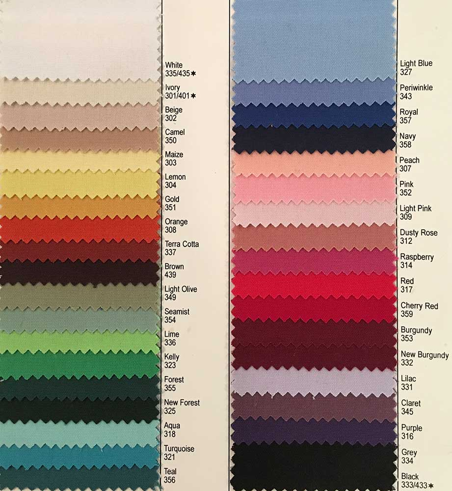 Cott'n-ezze Table Linens rentals come in a wide variety of colors - with the feel of cotton